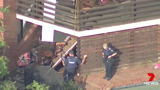 A weekend balcony collapse killed two women in Doncaster East. Picture: Seven News