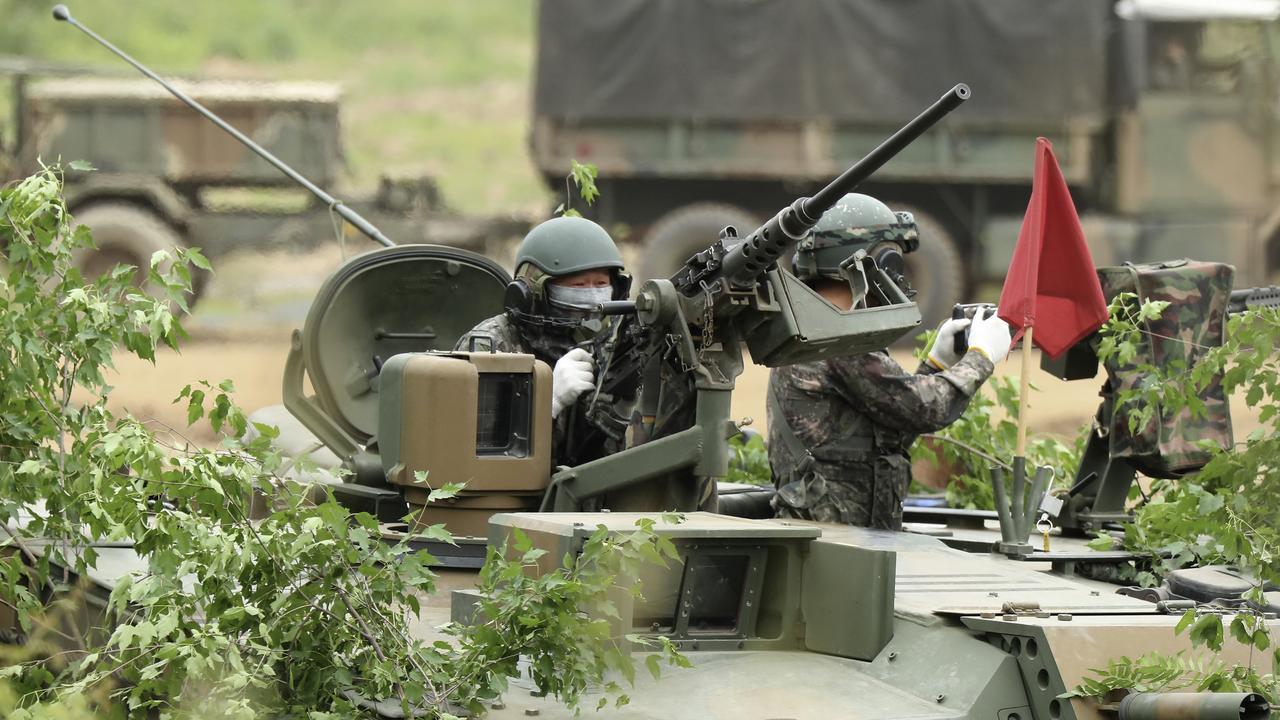 South Korean troops near the border. Picture: Kim Do-hoon/Yonhap via AP
