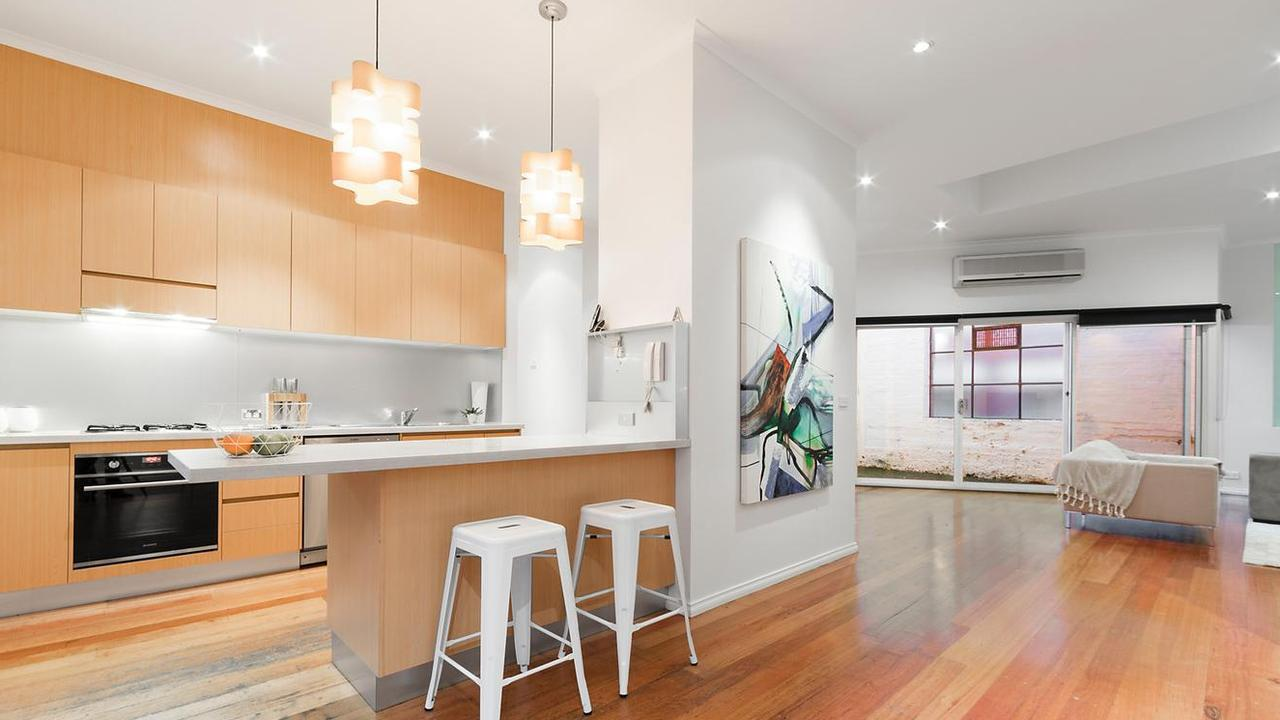 Inside the large 10 Perry St home.