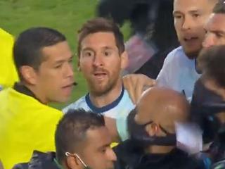 Lionel Messi in bust up after qualifier