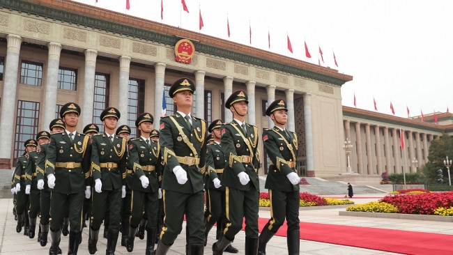 Chinese President Xi Jinping has detailed the development of a modernised military under the CCP moving forward in a speech marking 100 years of the Party. Picture: Getty