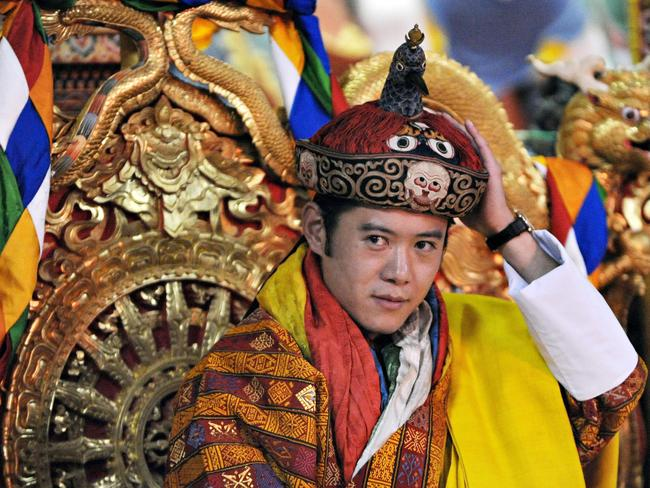The king of Bhuta was crowned when he was just 26. Picture: AFP