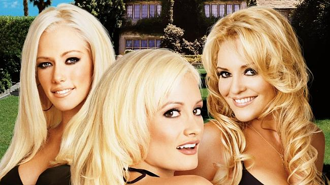29/04/2008 TV: Playboy Magazine mannequins Holly Madison, Kendra Wilkinson and Bridget Marquardt in scene from ...