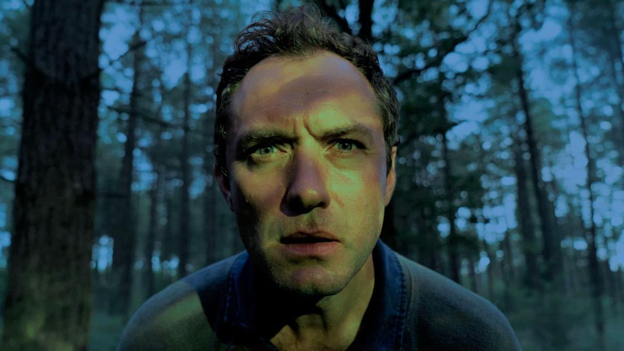 Jude Law, lost in the woods.