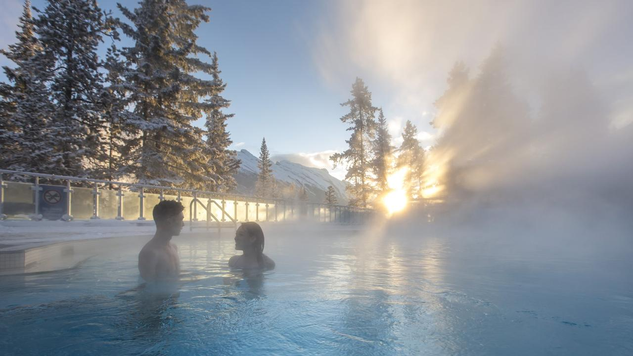 Soak up the ambience in the Banff Upper Hot Springs: Picture: Banff Lake Louise