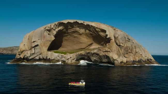 16. Skull Rock, Wilsons Promontory Cruise the Bass Strait and see a fur seal colony in Victoria's first marine national park on an eco-tour cruise with Pennicott Wilderness Journeys. Carved out by waves, Skull Rock is Wilsons Promontory's most compelling attraction.