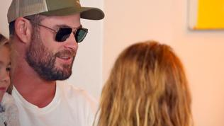 Isla  Fisher and Chris Hemsworth catch up for coffee in Double Bay, Sydney.
