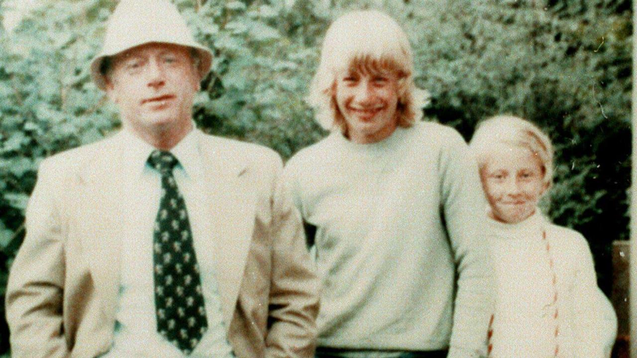 Martin Bryant (centre) with his father Maurice and sister, Lindy in the late 1980s.