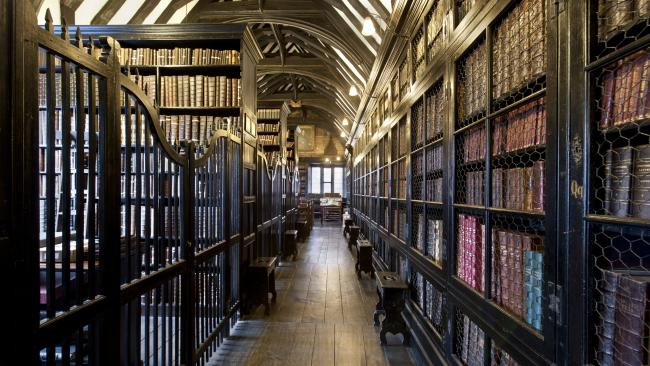 10/34Chetham's Library, Manchester USA The oldest public library in the English speaking world dates back to 1653 and is housed in a building whose construction goes back even further, to 1421. Picture: Loop Images/Universal Images Group via Getty Images