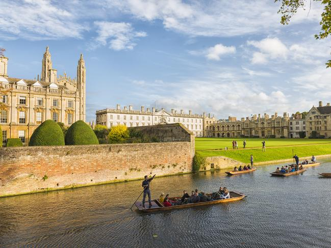 CAMBRIDGE You don't have to go all the way to Venice — historic Cambridge is also famous for its punting on the River Cam. You can slowly wend your way past the picturesque colleges and wonder why you weren't clever enough to study somewhere quite so bucolic.