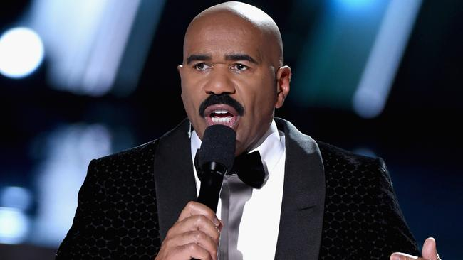 Steve Harvey reveals the drastic measures he had to take after revealing the wrong Miss Universe winner.(Photo by Ethan Miller/Getty Images)