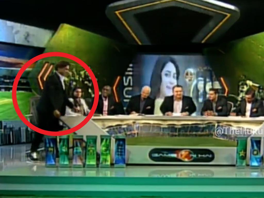 Shoaib storms off set after clashing with TV host.