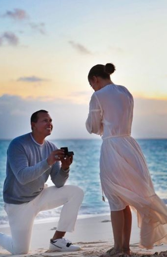 Alex Rodriguez proposed to Jennifer Lopez earlier this month