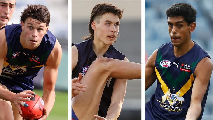 AFL Draft Power Rankings: Finn Callaghan, Sam Darcy and Nasiah Wanganeen-Milera.