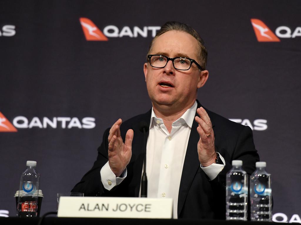 Qantas CEO Alan Joyce. Picture: AAP Image/Bianca De Marchi
