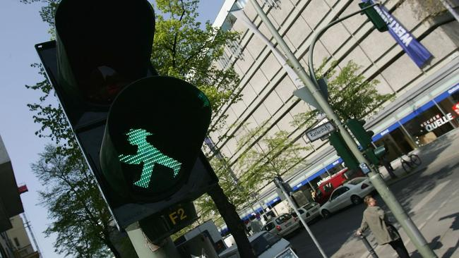 The Ampelmännchen signal is a much loved throwback to East Germany. Picture: Getty.