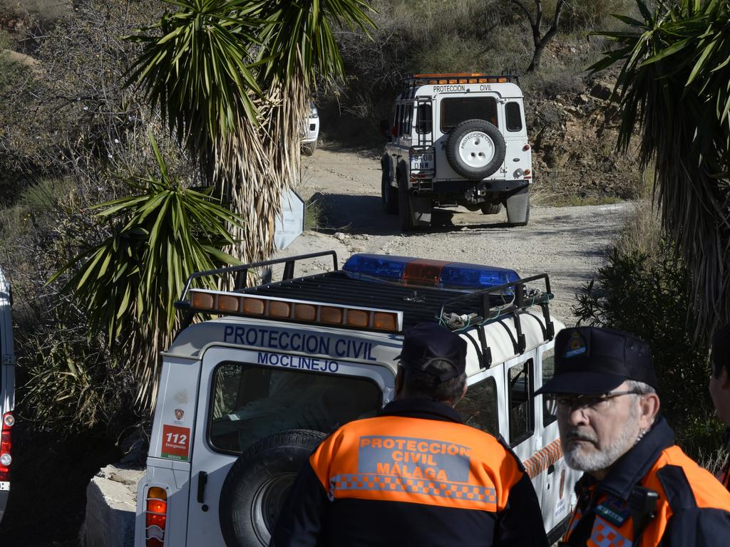 Emergency services look for the boy. Picture: AP