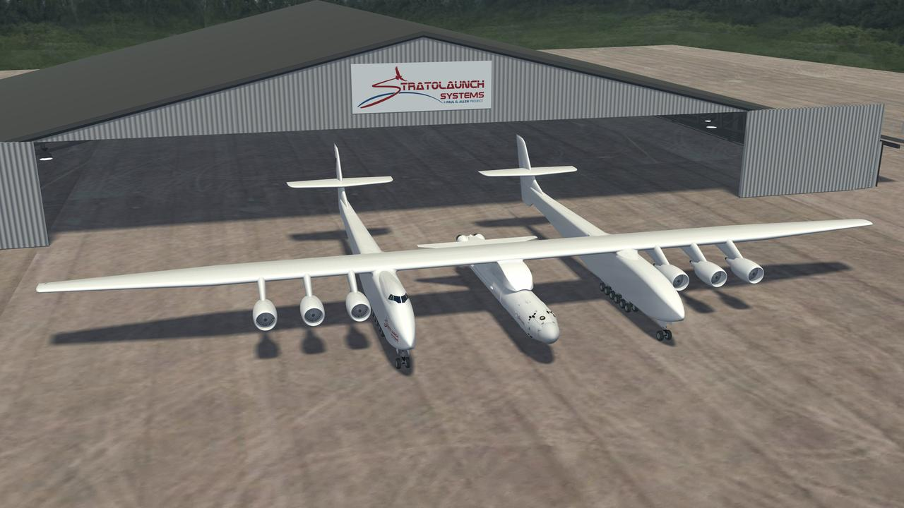 Artist's impression provided by Stratolaunch Systems. Picture: Supplied