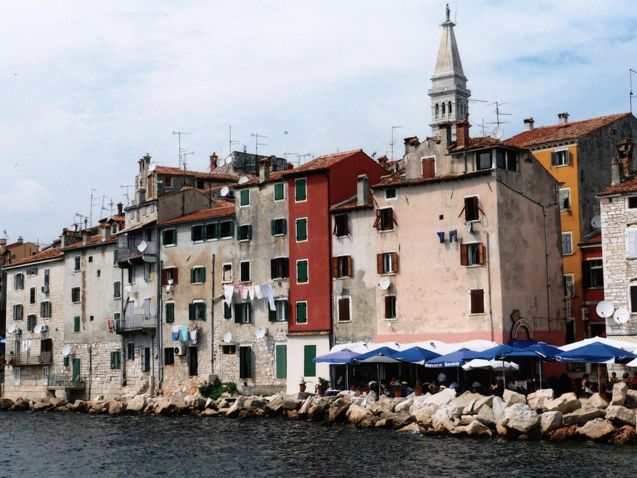 TRAVEL OLD PORT TOWN OF ROVINJ IN ISTRIA