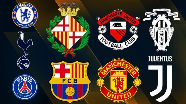 Football emblems.