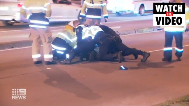 SA man allegedly assaulted police after crashing ute (9 News)
