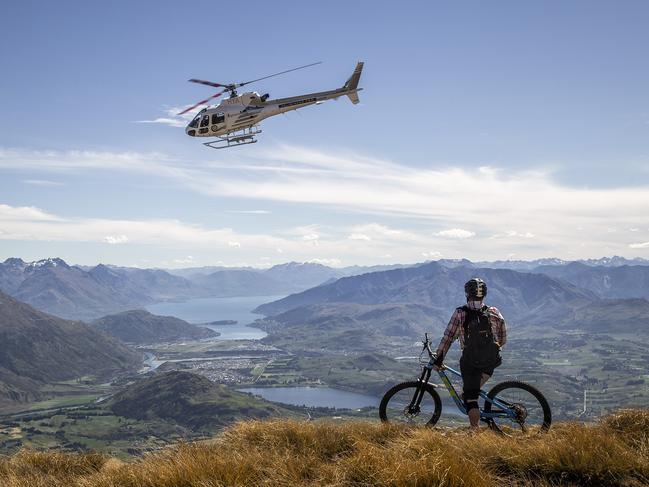 HELI-BIKING If you love ripping down gnarly mountain-bike trails but dread the long chairlift or shuttle ride back to the top of the hill, it's time to give heli-biking a try. It's mountain biking on steroids, with access to more terrain and killer views. Based in Queenstown, HeliBike NZ guides promise riders around 2000 vertical metres of downhill, with challenging routes that navigate snow, rocks and alpine grass. There are half- and full-day intermediate and advanced tours, with some of the tracks more technical and undulating than others. For hardcore riders, there is also the option to tackle a 2900m descent featuring a rock garden in The Remarkables mountain range. Whichever tour you pick, rest assured you'll have plenty of battle scars and stories to share afterwards.