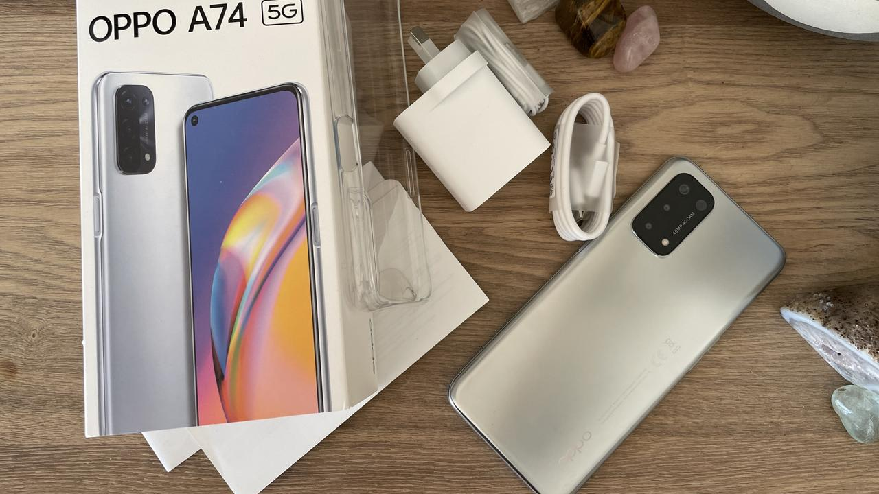 Unboxing the OPPO A74 5G.