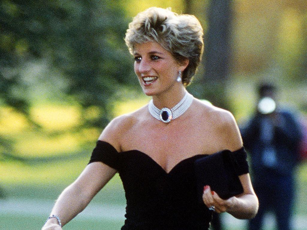 Princess Diana wearing the earring with her iconic Revenge Dress. Picture: Jayne Fincher/Getty Images