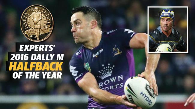 Veteran Storm half Cooper Cronk (seven votes) edged out Maroons teammate Johnathan Thurston (six).