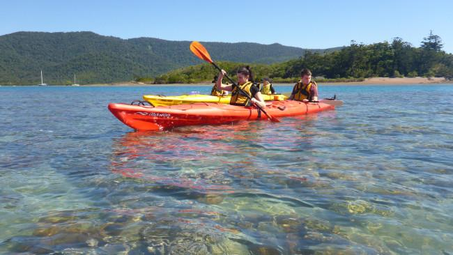 7/10 Go PaddlingCheck out Airlie Beach's fringing reef and secret beaches – on a guided sea kayak tour. Salty Dog Kayaks offer six-kilometre half-day tours to nearby island and over fringing reef, or take a day tour (10-15 kilometres) to South Molle Island to snorkel and hike. Or rent your own kayak without a guide. Or hire a kayak or stand-up paddleboard right in town. Picture: Salty Dog Tours