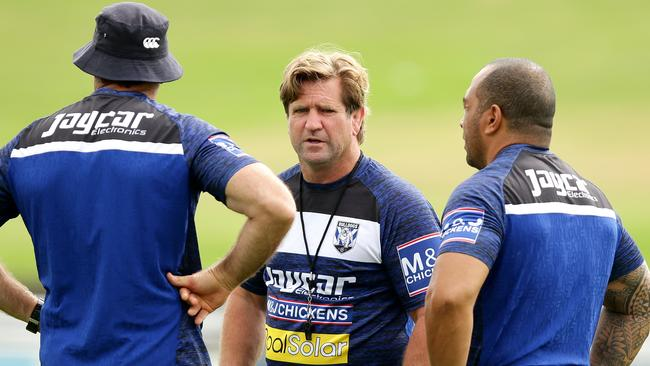 Will coach Des Hasler change the way the Bulldogs play for 2017? Picture: Gregg Porteous