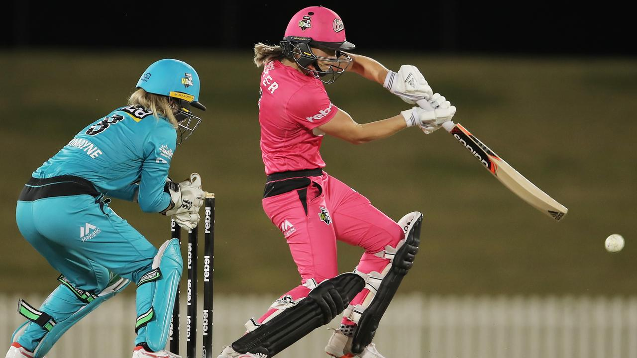 Ellyse Perry blasted an important half-century in the Sixers' victory. Picture: Matt King/Getty Images