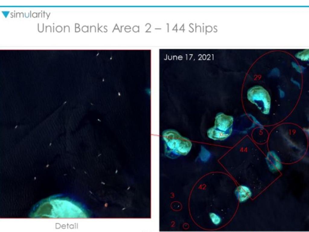 Union Banks Area 2 – 144 ships.