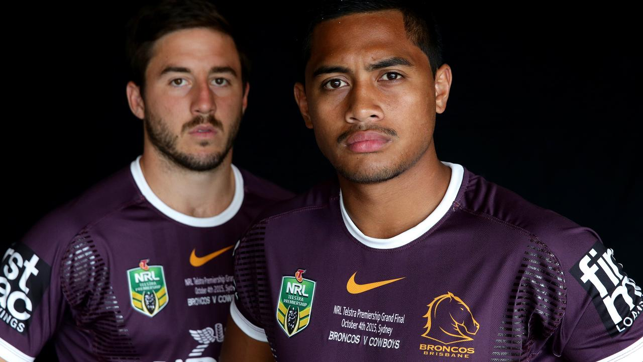 Brisbane Broncos halves Ben Hunt and Anthony Milford ready for Sunday's NRL Grand Final .Picture Gregg Porteous