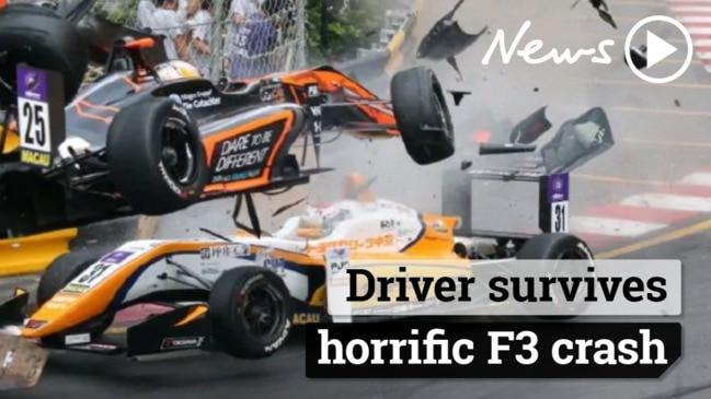 Macau Grand Prix: Driver survives incredible F3 crash