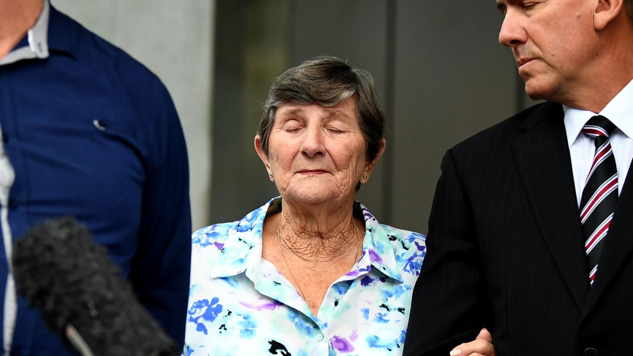 Linda Reed's mother Nancy Fein outside court after Troy O'Meara's sentence last month. Picture: Dan Peled.