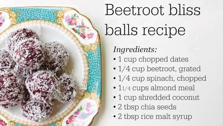 How to make beetroot bliss balls