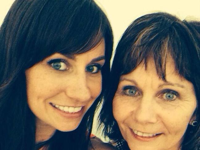 Gayleen McEwan with her daughter Kelly McEwan on Facebook. Picture: Supplied/Facebook