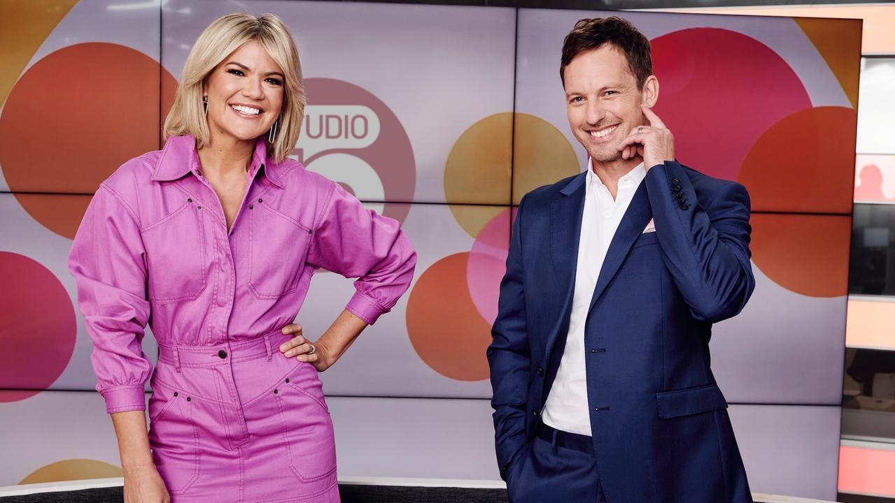 Sarah Harris now co-hosts Studio 10 with Tristan MacManus.