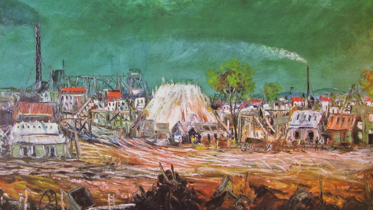 """Art - painting """"Minescape, Broken Hill"""" by Pro Hart. /Art/Hart"""