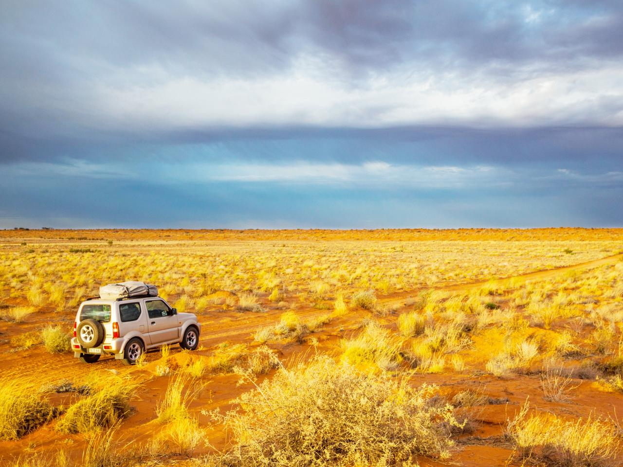 dark skies over the Simpson Desert at Witjira National Park, French Line Track,  South Australia
