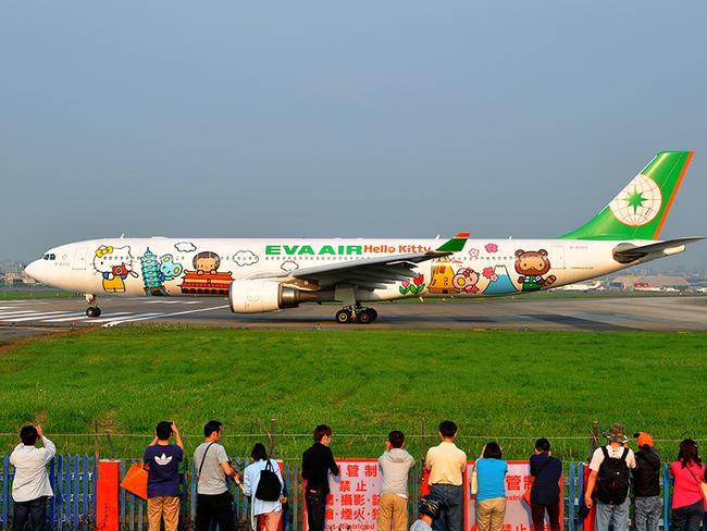 A Hello Kitty themed plane. Picture: Alex Hsu