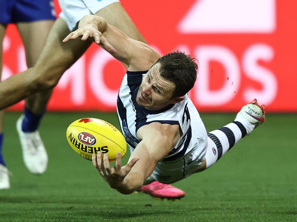 Patrick Dangerfield of the Cats.