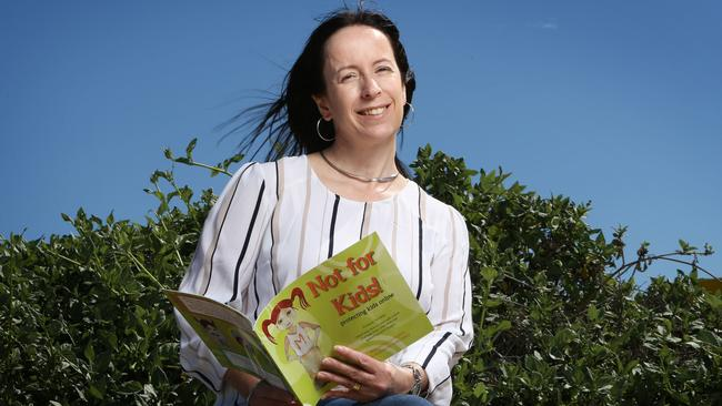 Liz Walker, who has written <i>Not for Kids!, </i>which helps children cope with unintentional exposure to pornography, says many Queensland schools are dropping the ball when it comes to sex education. Picture: Steve Pohlner