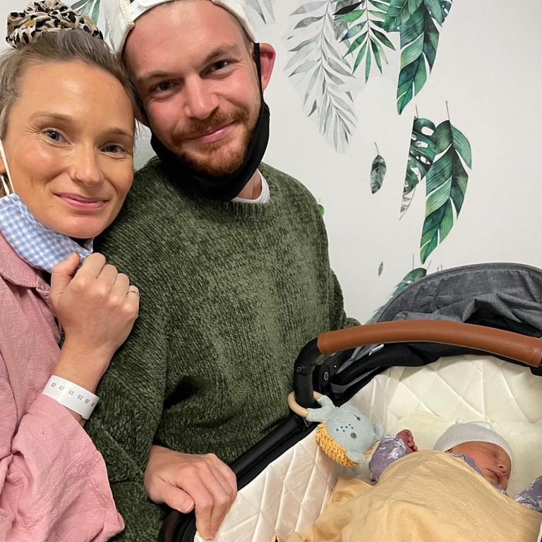 Family and community ... Tiffany and Sean Duncan with their daughter Dahlia Joy.