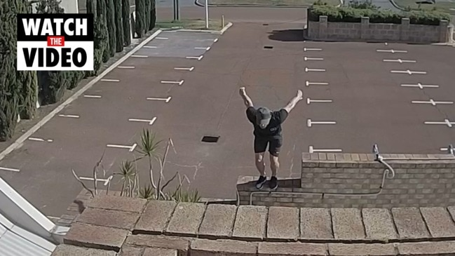 Search for man behind parkour fail