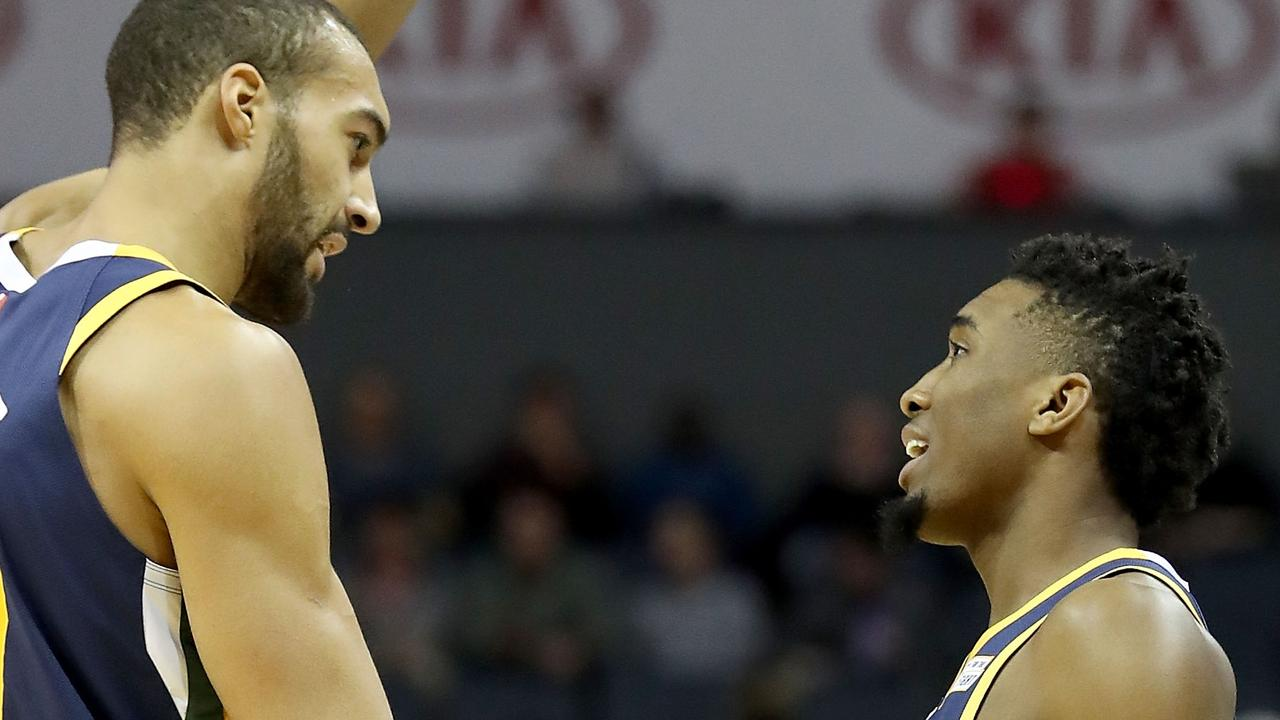 Rudy Gobert (L) and Donovan Mitchell may never be friends again.