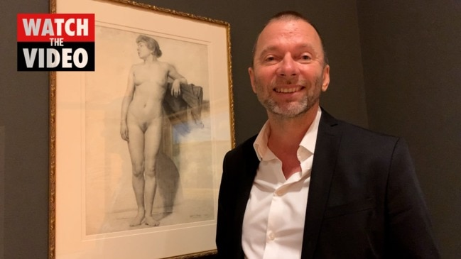 Wayne Tunnicliffe with Arthur Streeton drawing