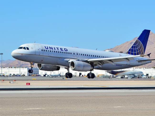 A United Airlines plane. Picture: Tomas del Coro