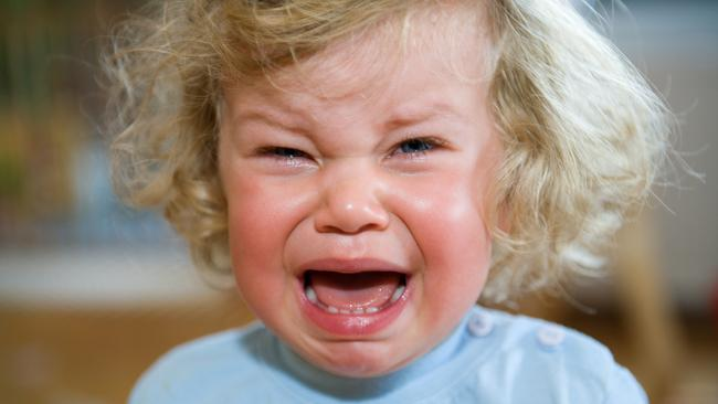 Hearing the words 'Mine!' and 'No!' might incite this response from your child. Picture: iStock